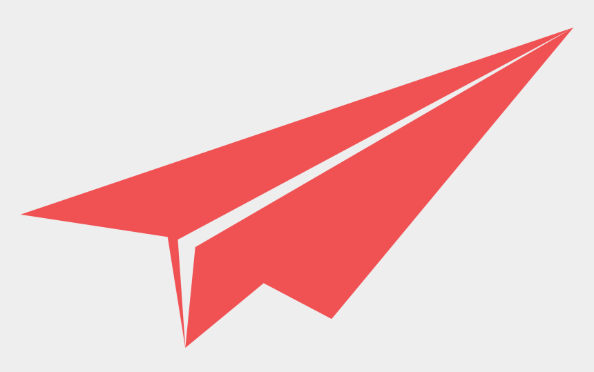 paper airplanes clipart, Cartoons - Red Paper Plane - Paper Plane Png