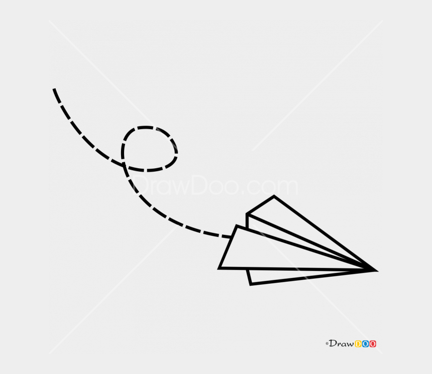 paper airplanes clipart, Cartoons - Minimalist Transparent Plane - Paper Plane Tattoo Drawing