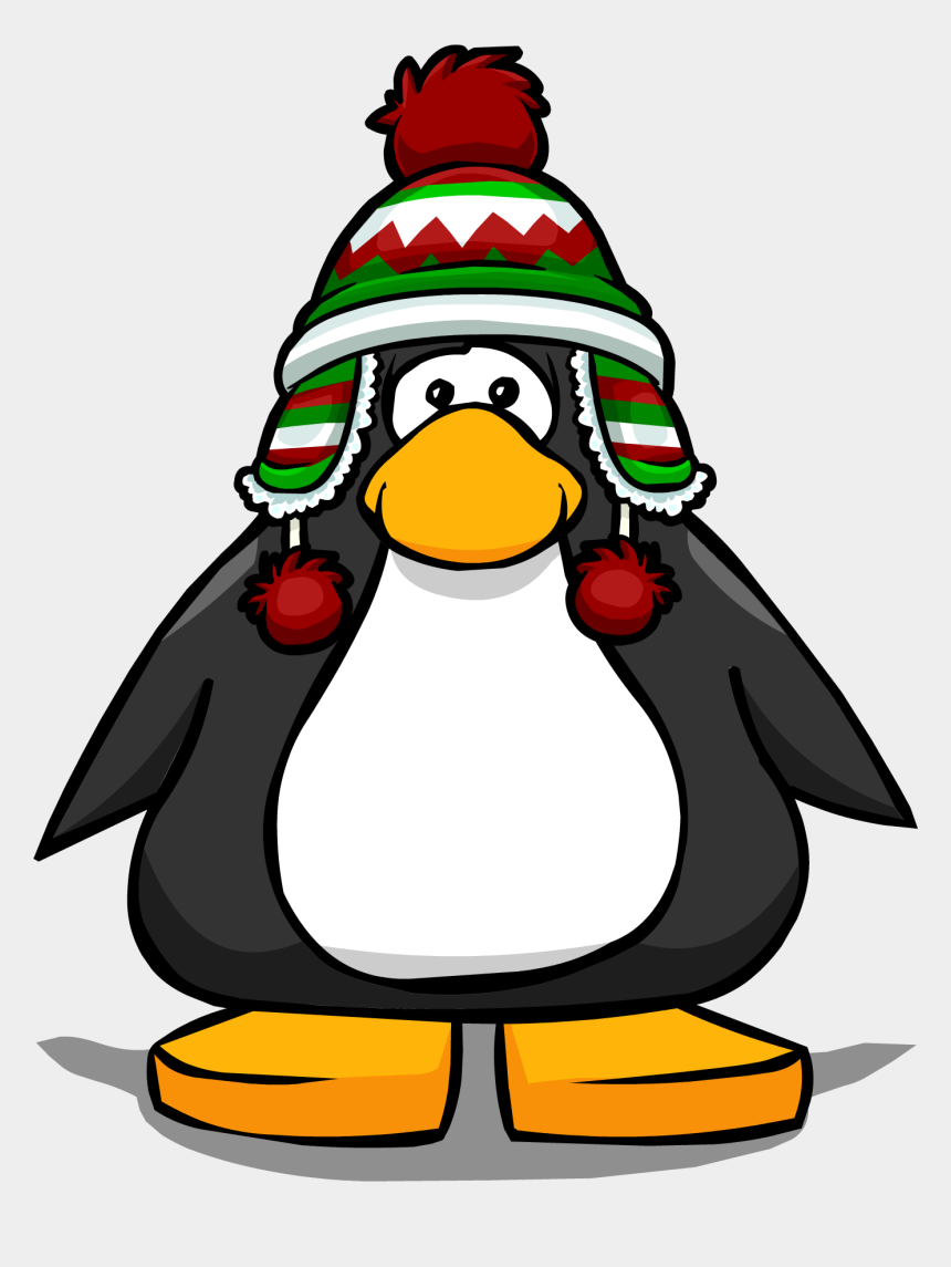 christmas penguins clipart, Cartoons - Holiday Toque Pc - Penguin With Santa Hat