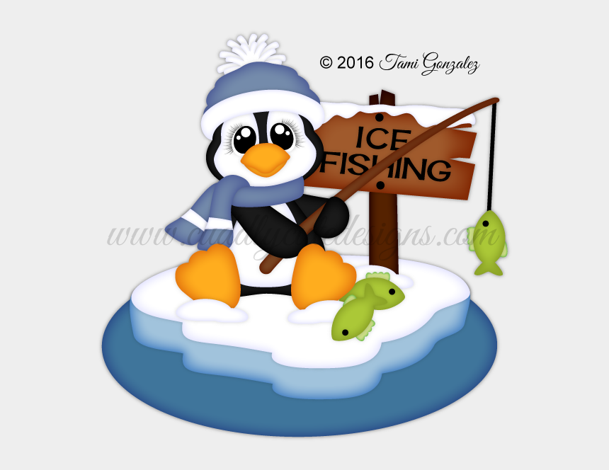 christmas penguins clipart, Cartoons - Fishing Penguin Christmas Yard Art, Christmas Yard - Fishing Penguin