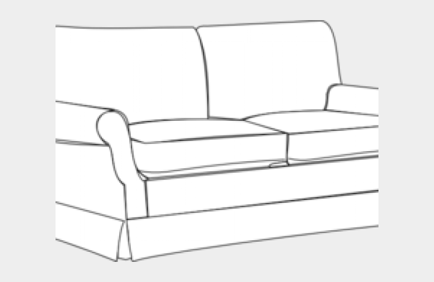 couch clipart black and white, Cartoons - Couch Clipart Sala Set - Sleeper Chair