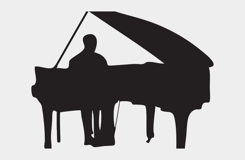 piano clipart black and white, Cartoons - Clipart Wallpaper Blink - Man Playing Piano Silhouette