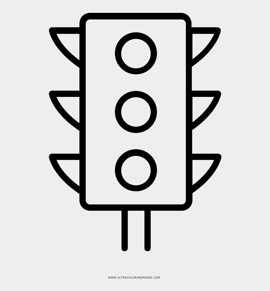 Traffic Lights Coloring Page Ultra Pages Traffic Controls