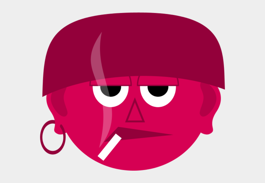 smoking clipart, Cartoons - Man Face Bad Guy Smoking Clipart - Bad Guy