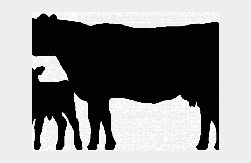 dairy cow clipart, Cartoons - Cattle Clipart Dairy Cow - Cow Calf Silhouette