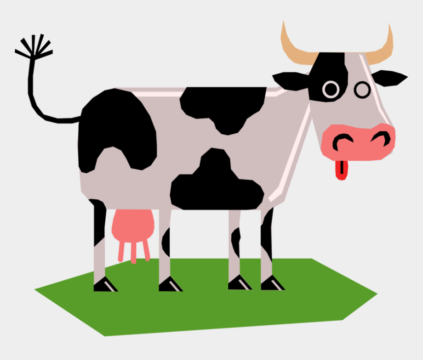 dairy cow clipart, Cartoons - Vector Illustration Of Farm Agriculture Livestock Animal - Cow