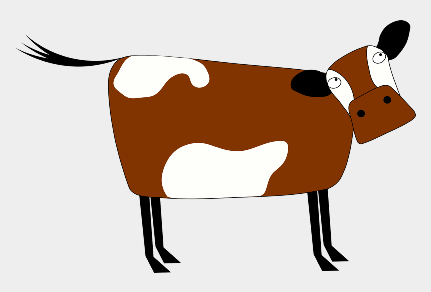 dairy cow clipart, Cartoons - Taurine Cattle Cartoon Dairy Cattle Animal Drawing - Cartoon Brown Cow Transparent Background