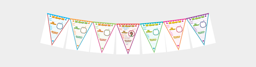 all about me clipart, Cartoons - All About Me Pennants Bulletin Board Display Ⓒ - Illustration