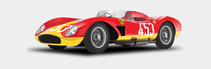 red race car clipart, Cartoons - Race Car Clipart File - Ferrari 500 Trc