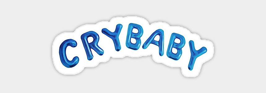 blue balloons clipart, Cartoons - #crybaby #baby #blue #balloons #aesthetic #freetoedit - Black And White Aesthetic Stickers