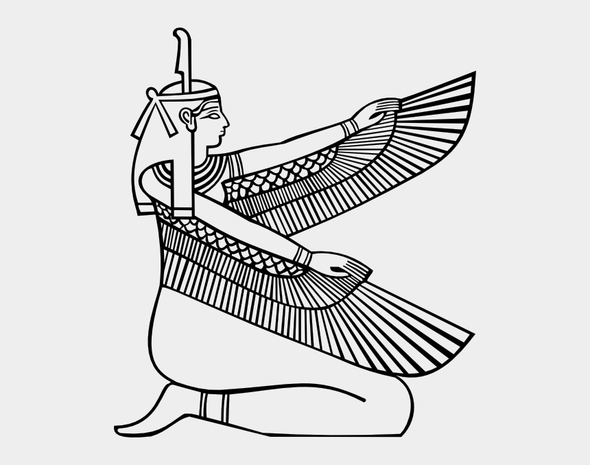 ancient egypt clipart, Cartoons - Maat Outline Clip Art At Clker - Ma At Egyptian Goddess