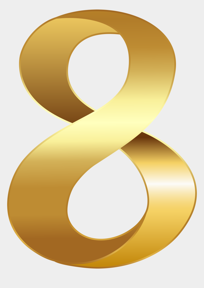 eight clipart, Cartoons - Golden Number, High Quality Images, Clips, Numerology, - Number Eight Gold Png