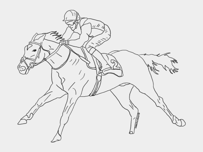 horse racing clipart, Cartoons - Caballo De Carrera Para Dibujar