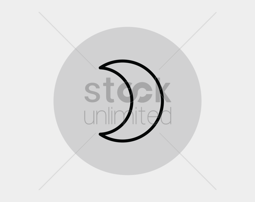 crescent moon clipart black and white, Cartoons - Free Crescent Moon Vector Image - Crescent