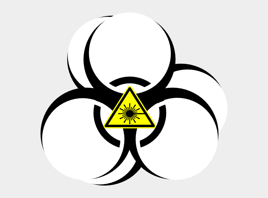 laser tag clipart, Cartoons - Biohazard Symbol Transparent Background