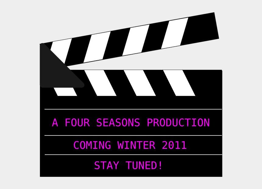 four seasons clipart, Cartoons - Movie Clapper Board