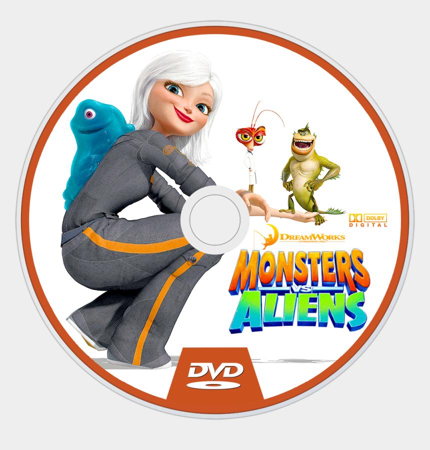 Aliens Dvd Disc Image Monsters Vs Aliens Dr Cockroach Bob Susan Cliparts Cartoons Jing Fm
