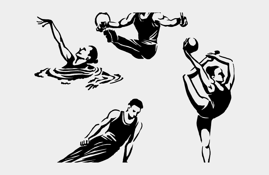 relay race clipart, Cartoons - Olympic Games Clipart Sporty Person - Summer Olympic Games