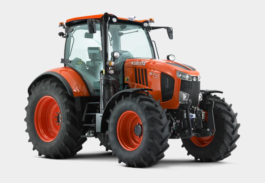 farmer on tractor clipart, Cartoons - M Series - 57 - 9-133hp - M7171 Kubota Tractor