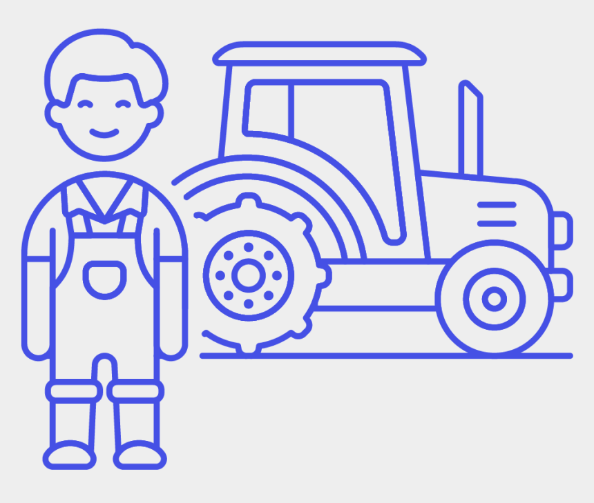 farmer on tractor clipart, Cartoons - 45 Farmer Tractor Male Asian