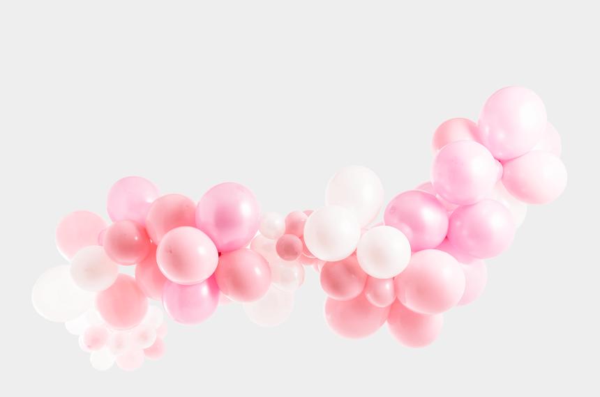 its a girl clipart, Cartoons - Powder Pink Balloon Garland Kit - White Pink Balloon Garlands Png
