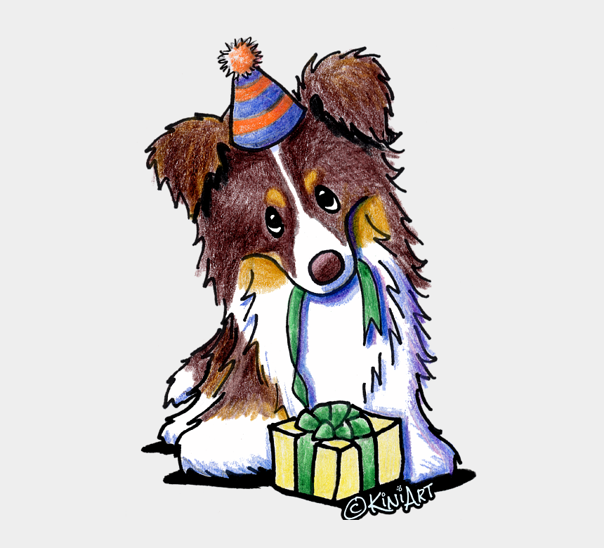 border collie clipart, Cartoons - Bleed Area May Not Be Visible - Tri Chocolate Border Collie