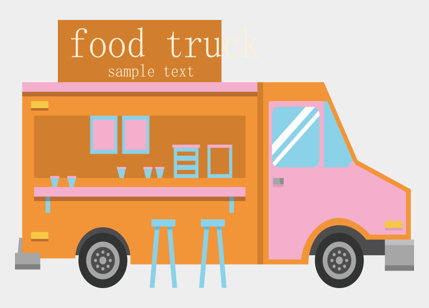 food truck clipart, Cartoons - Truck Cartoon Png - Food Truck Product Line