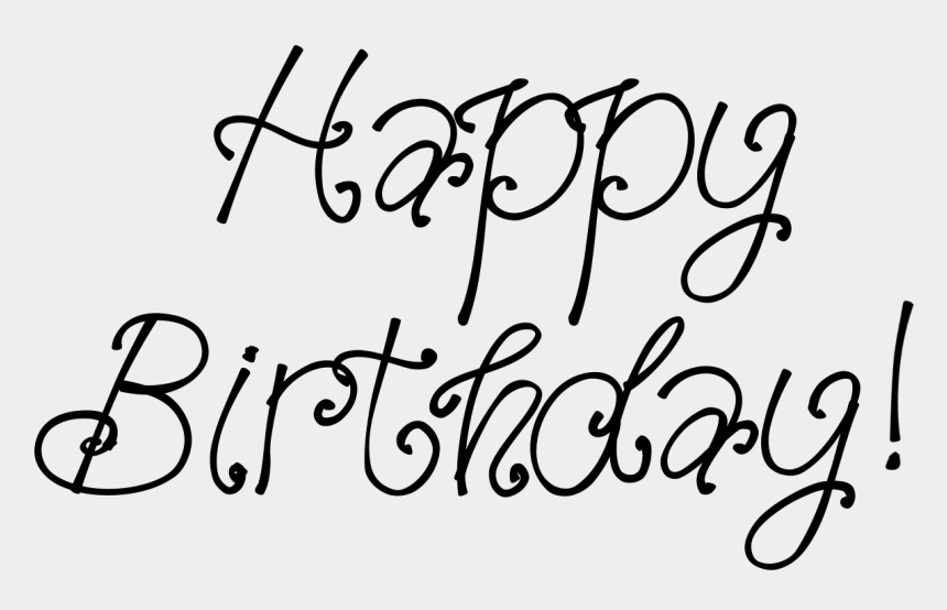 calligraphy clipart, Cartoons - Happy Birthday Calligraphy Png Clipart - Calligraphy