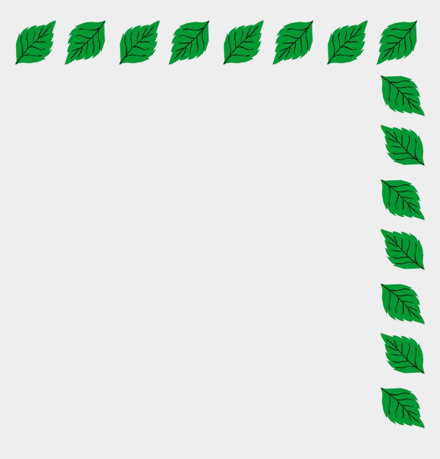 green border clipart, Cartoons - Green Leaf Border Png Download - Green Leaf Border Clipart