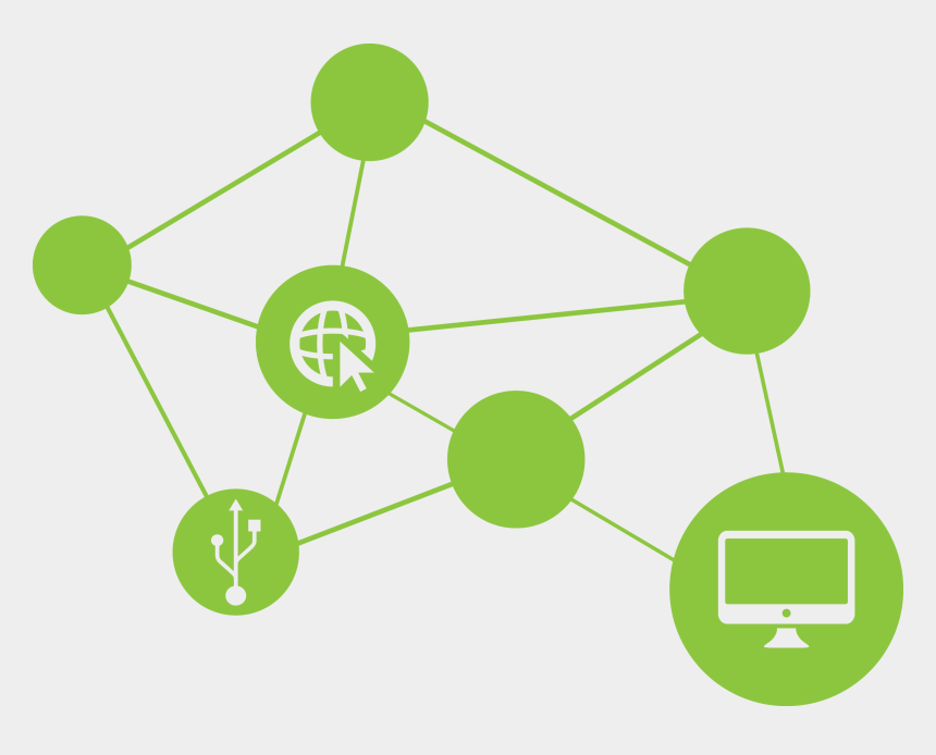 networking clipart, Cartoons - Green Network Icon Png