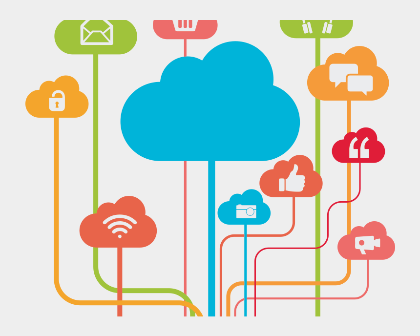 networking clipart, Cartoons - Cloud Networking For Location Independent Learning - Cloud Based Technology In Education