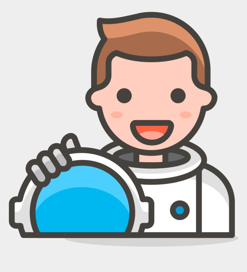 kid astronaut clipart, Cartoons - 178 Man Astronaut - Female Astronaut Emoji Png