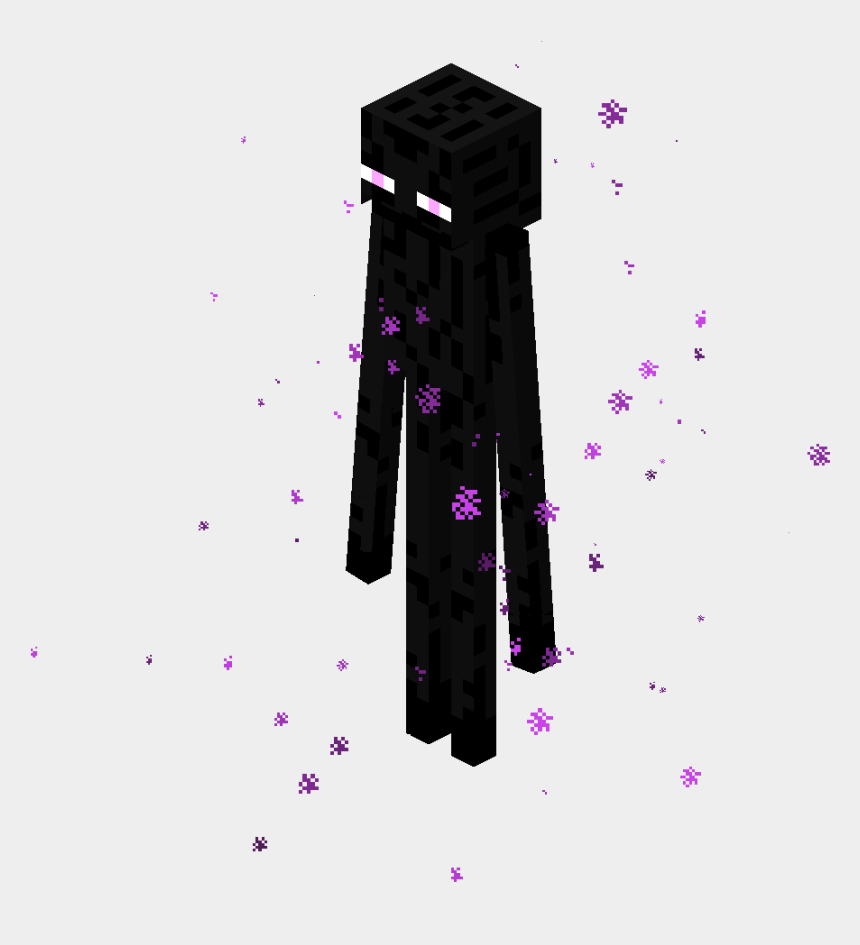 minecraft birthday clipart, Cartoons - Drawn Minecraft Guy - Minecraft Enderman Png