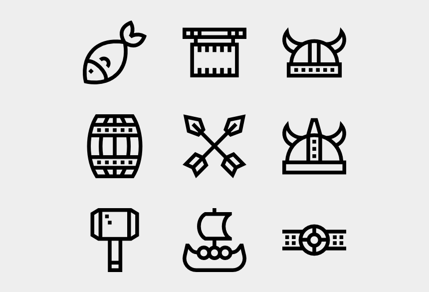 Viking Outline Cute Plane Icon Transparent Background Cliparts
