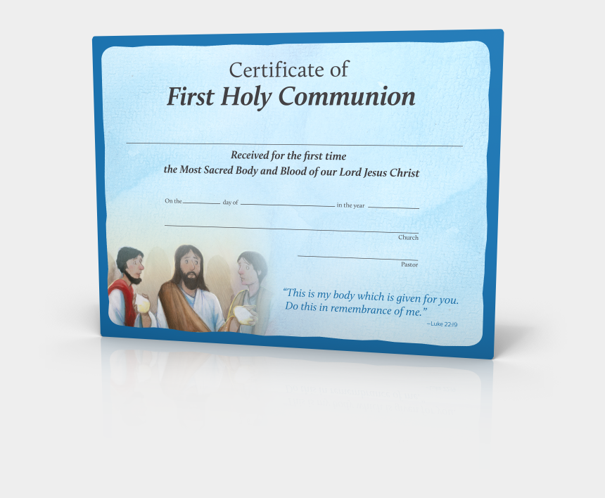 do this in remembrance of me clipart, Cartoons - You Are Loved - Holy Communion Certificate