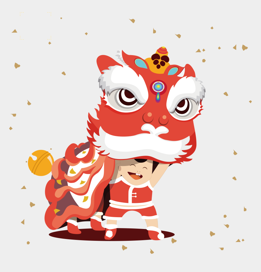 chinese lanterns clipart, Cartoons - Lion Dance Chinese New Year Tangyuan Lantern Festival - Chinese New Year Lion Cartoon