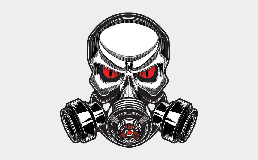 gas mask clipart, Cartoons - Printed Vinyl Gas Mask Skull Stickers Factory - Skulls With Gas Masks