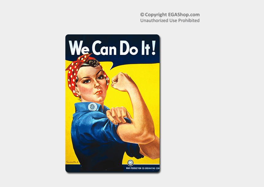 rosie the riveter clipart, Cartoons - Wwii Poster, Rosie The Riveter - Poster Rosie The Riveter