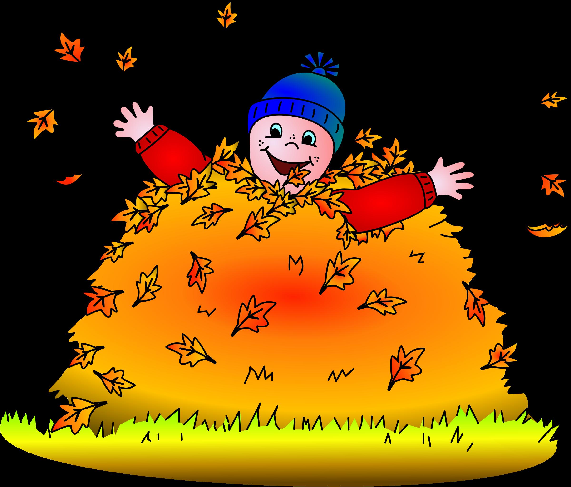 Fall Clipart Child Leaf Pile Clip Art Transparent Cartoon Jing Fm
