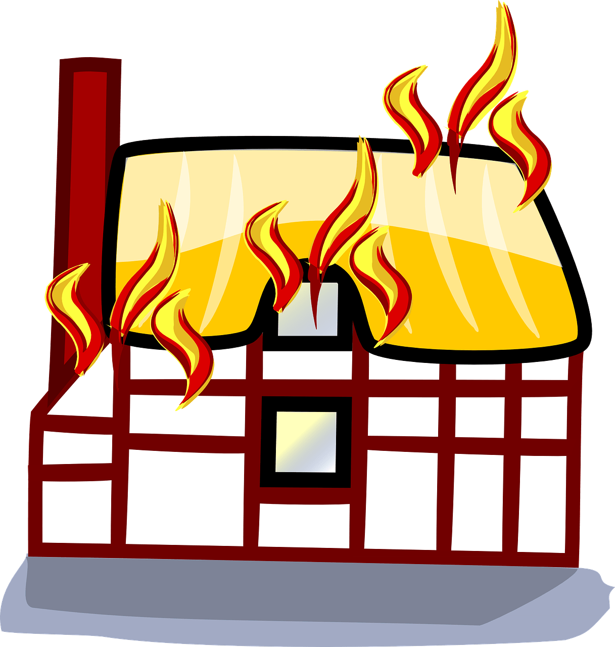 Transparent fire clipart - Everything You Need To Know About Fire Safety In Your - Cartoon Houses On Fire