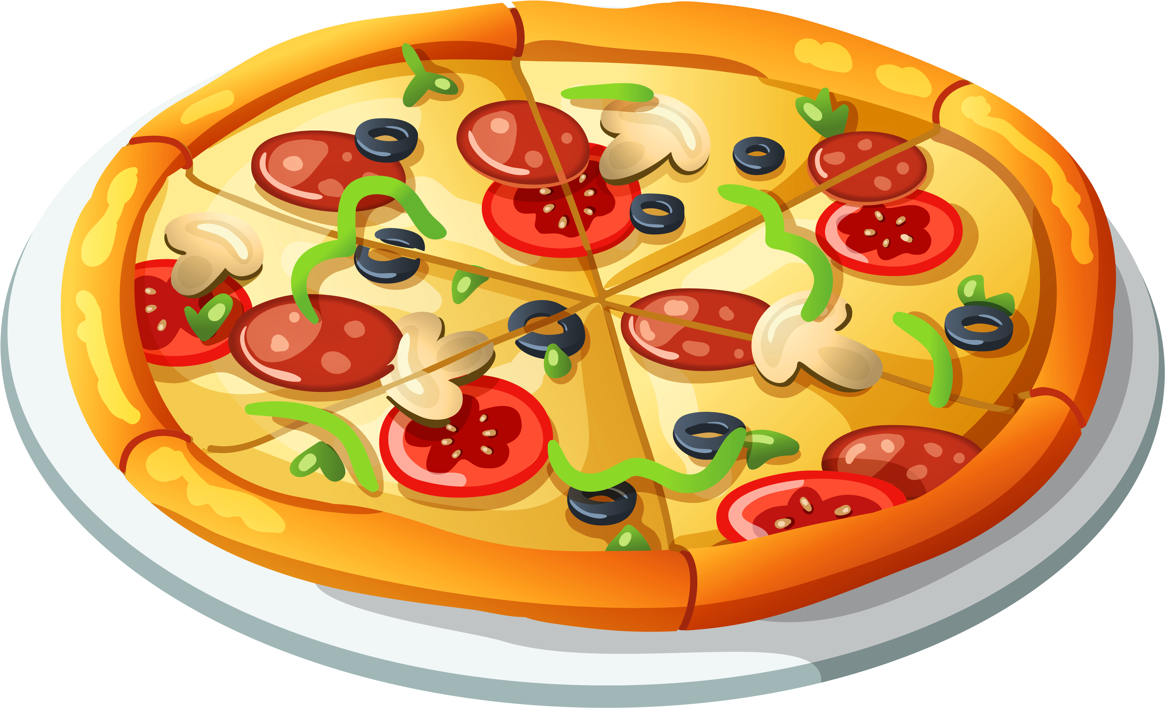 Transparent pizza clipart - Pizza Vector Clipart - Pizza Clipart