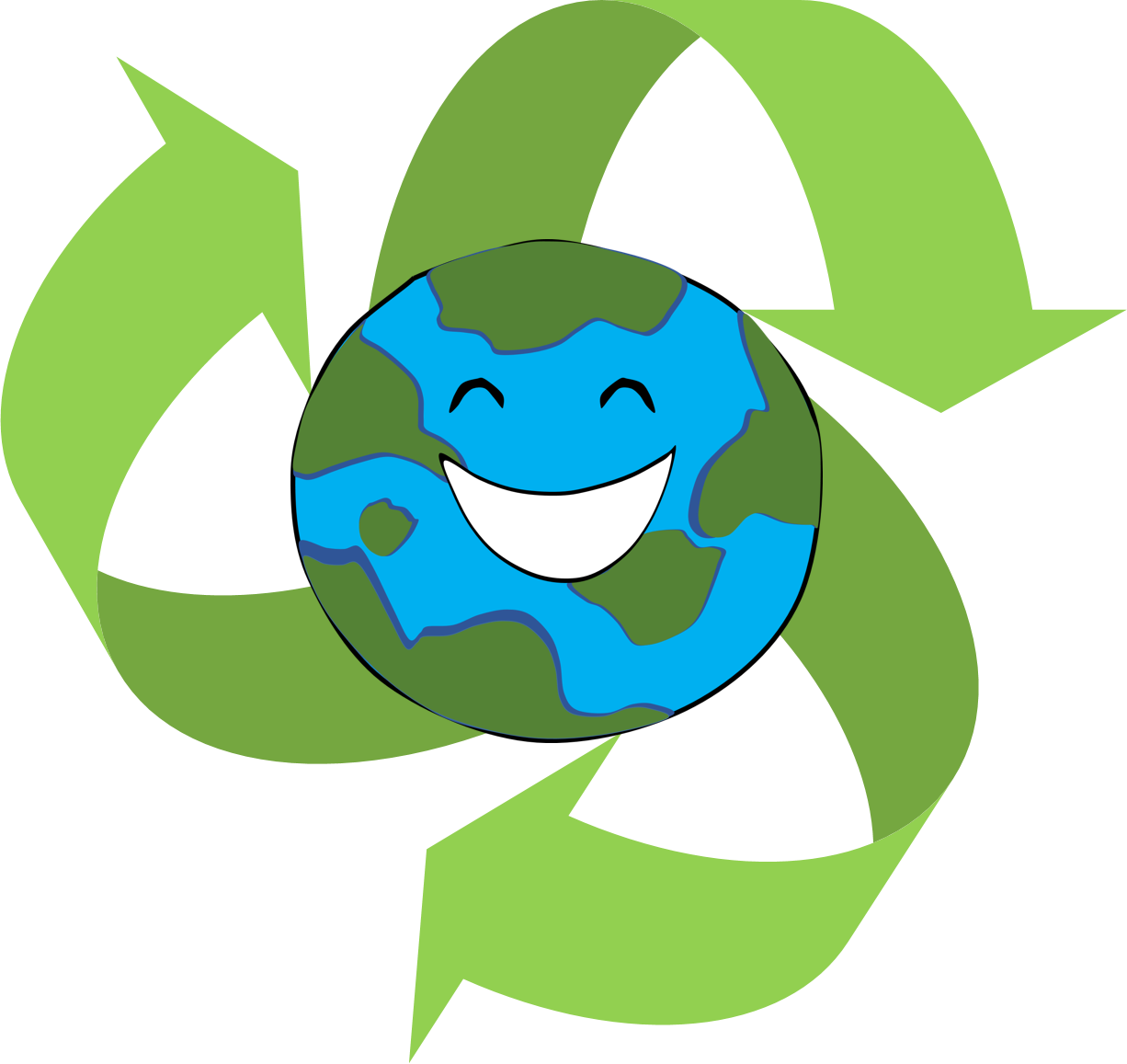 Transparent earth clipart - Recycle Clipart - Project On Earth Day