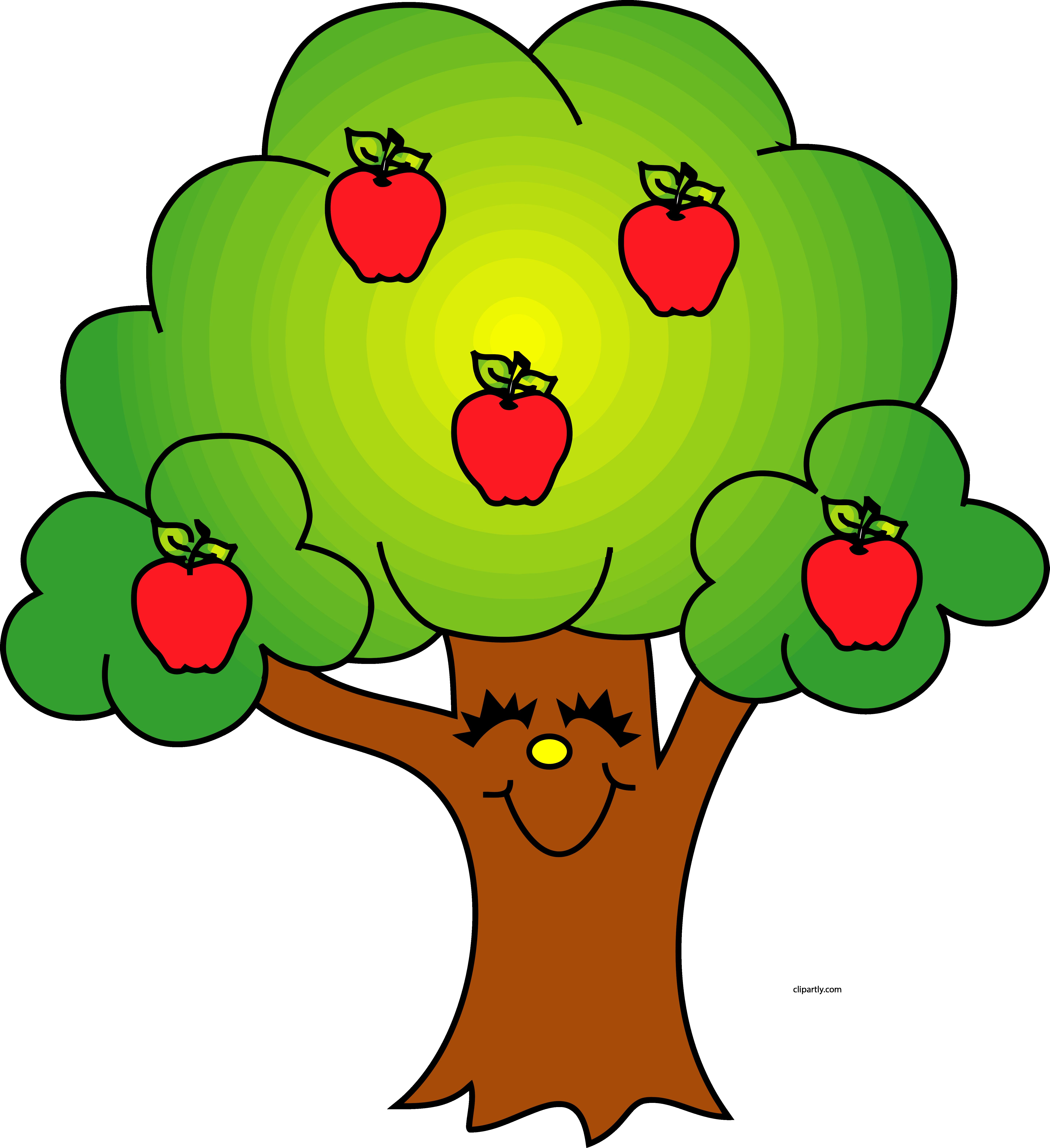 Transparent tree clip art - Trees Image Of Tree Clipart 8 Cool Apple Tree Clip - Tree With Apples Clipart