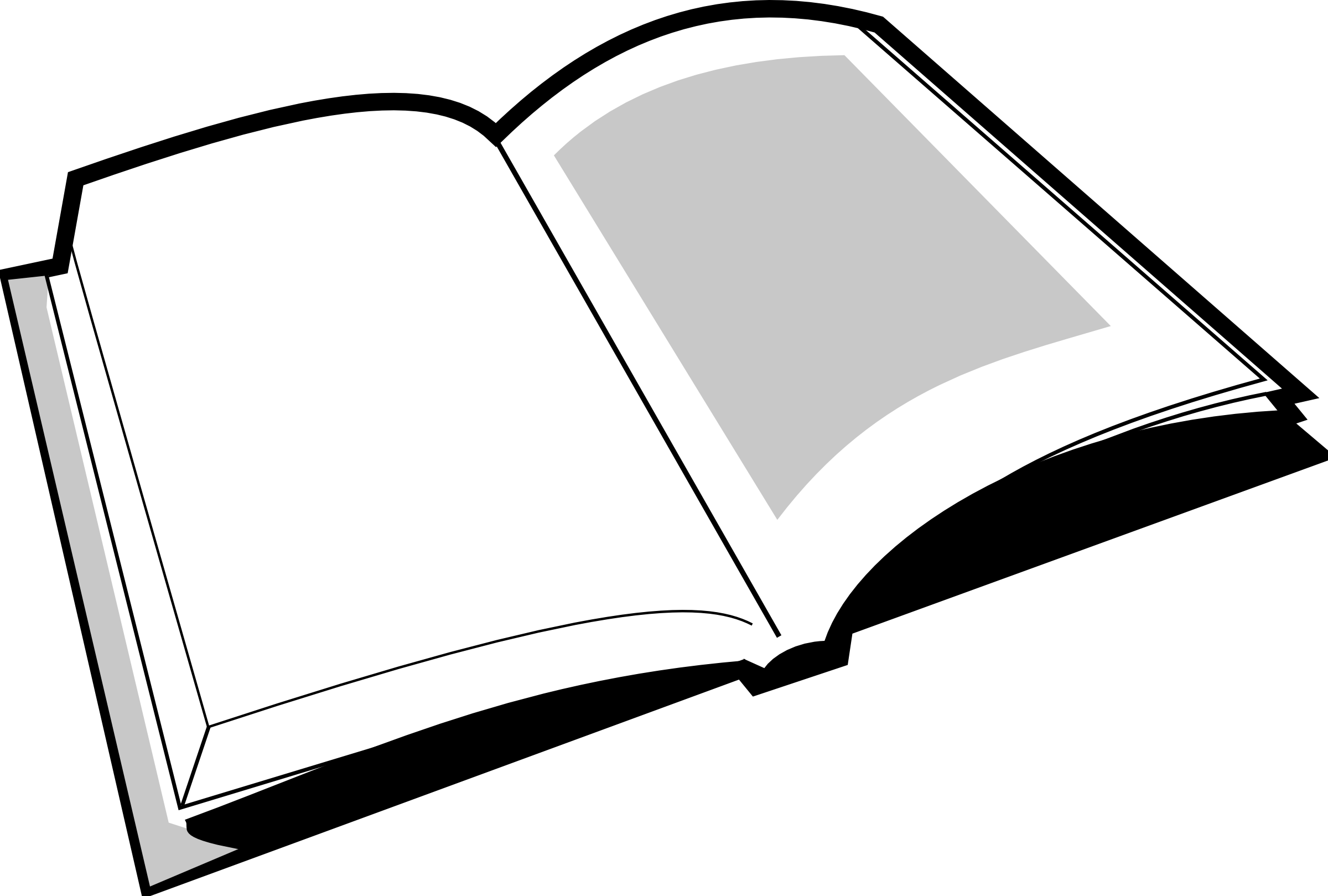 Transparent book clipart - Books Open Book Clip Art Color Free Clipart Images - Cartoon Book Black And White