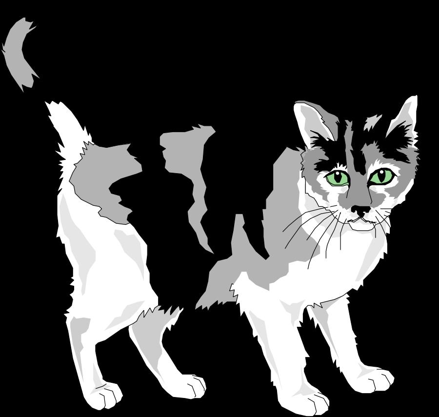 Transparent cat clip art - Black And Grey Cat Clipart, Vector Clip Art Online, - Royalty Free Cat Clipart