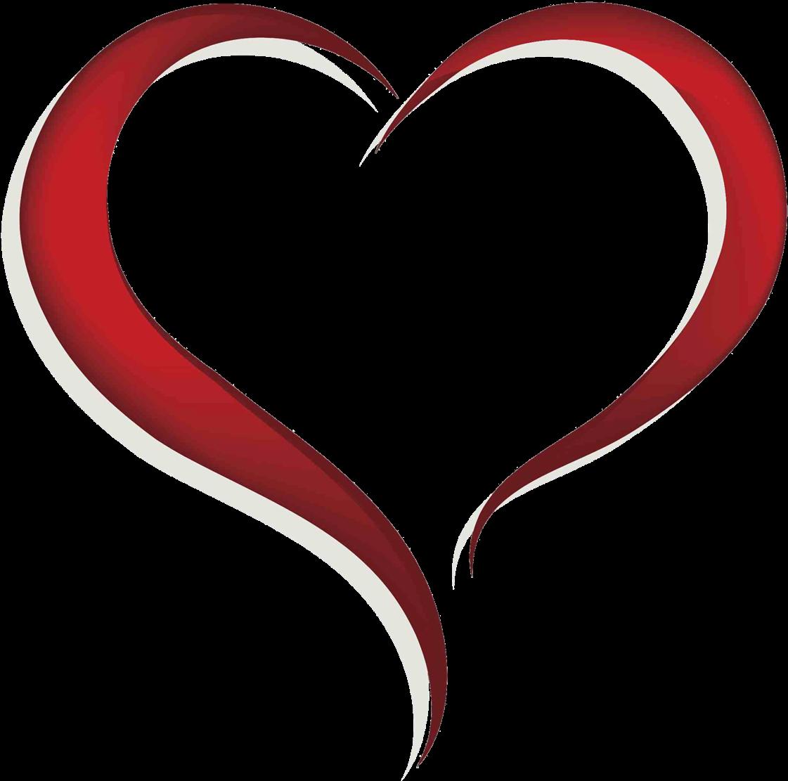 Transparent heart clipart - Heart Clipart Free - Open Heart Clip Art