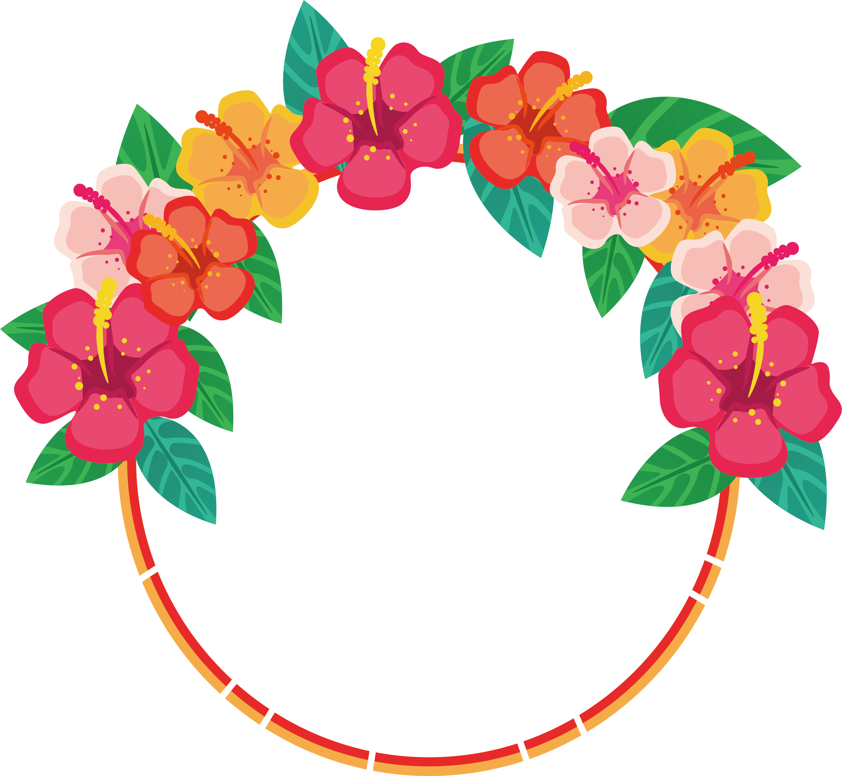 Transparent flower clipart - Flower Floral Design Download Clip Art - Flower Round Border Designs