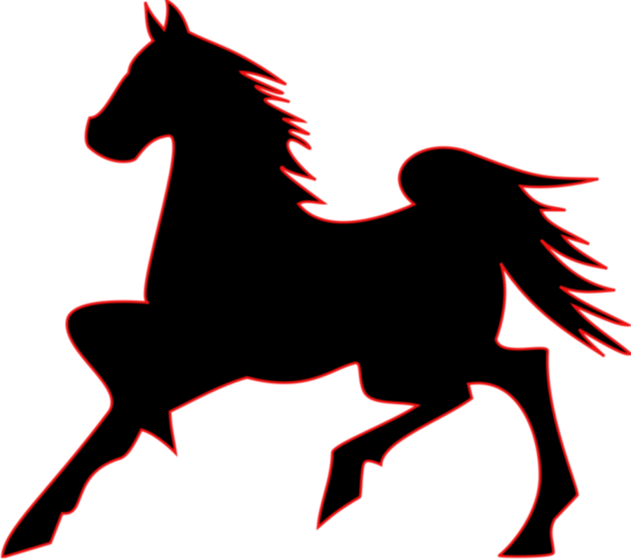 Transparent horse clipart - Clipart Of Aj, Horse To And Horse For - Dark Horse Outline