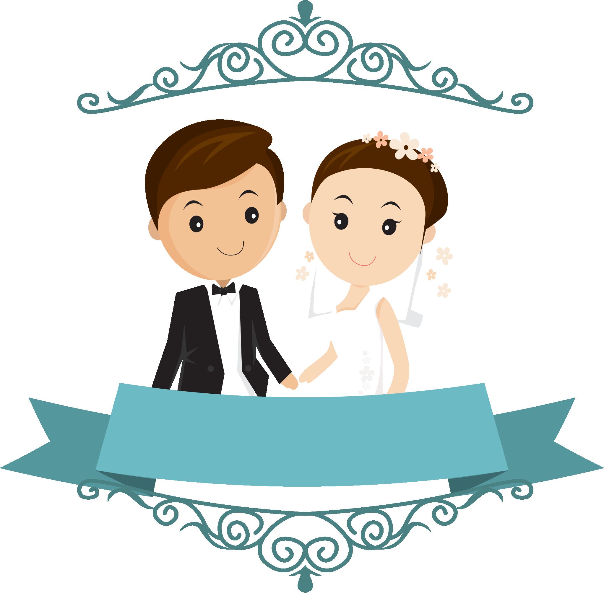 Wedding Free Png Images Wedding Couple Cartoon Png Transparent Cartoon Jing Fm