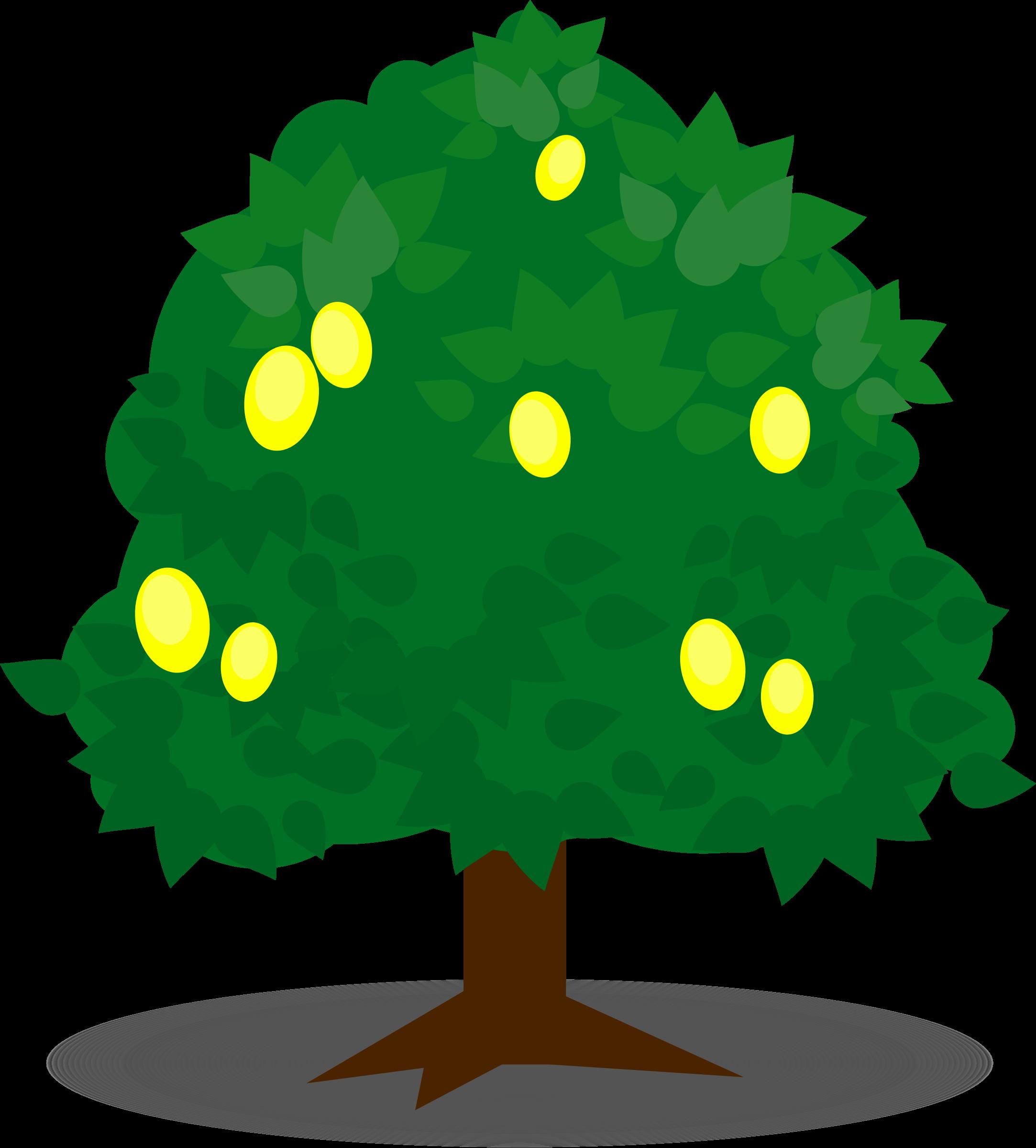 Transparent tree clipart - Lemon Tree Clipart - Fruit Tree Clipart Png